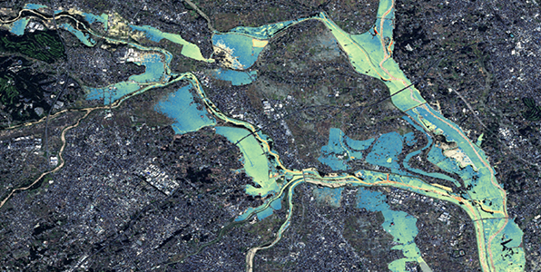 Mapping of Inundation Depth Estimated from Satellite Data