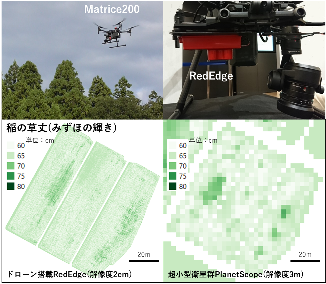 Smart Agriculture Using Satellites and Drones